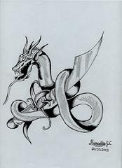 O Drago e o Sabre (Artemarcello - Criaes e Design -) Tags: artemarcello canetasnanquimdescartveis sabre drago