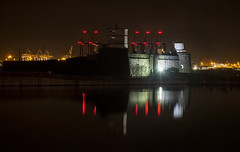 Fort Perch Rock (David Chennell - DavidC.Photography) Tags: fort fortperchrock night wirral merseyside newbrighton liverpool2 docks marinelake reflection peelports