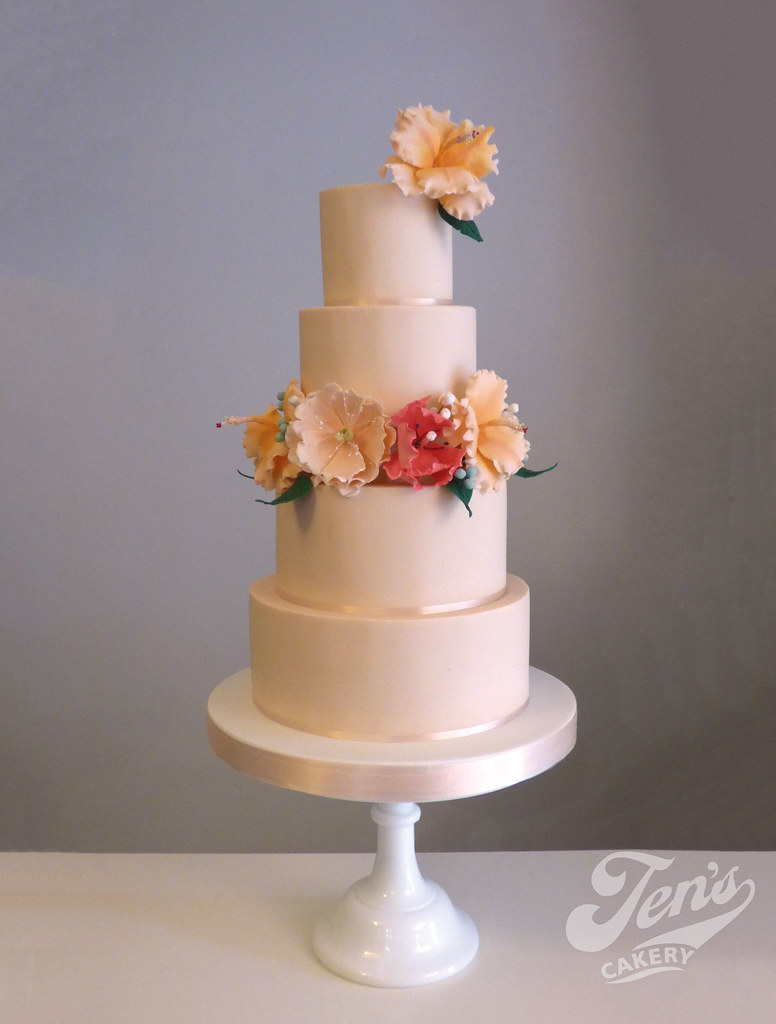 The worlds most recently posted photos of cake and hibiscus zyreetas tropical blush cake jens cakery tags wedding cake tiers round sugarflowers hibiscus izmirmasajfo