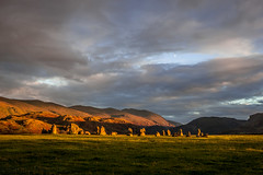 Moon over Castlerigg Stone Circle (Sandy Sharples) Tags: moon clouds mountains landscape castlerigg stonecircle england englishheritage keswick cumbria history travel neolithic ceremony drama autumn october