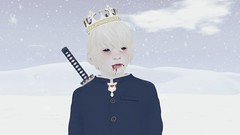 Winter Portrait (luxfero_cain) Tags: winter portrait snow snowblind regal royal boy child bek blackeyedchildren blackeyedkids kid youth secondlife sim virtualreality 3d cgi digitalart childhood children