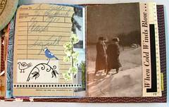 Vintage Journal #23 (Lydia's Post) Tags: journal journalpages junkjournal artjournal collage cutandpaste blackandwhite winterscene