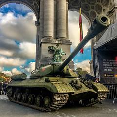 USSR invades Brussels (stephi.G.) Tags: massagebrussels yogabrussels tank