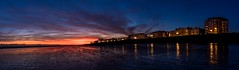 Worthing seafront panorama (Paul M Loader) Tags: worthingwestsussexuk beach pier sunset panorama canoneos5dmkivmk4 1635mmf4