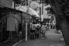 i love flat (edwardpalmquist) Tags: takeshitastreet harajuku shibuya tokyo japan city street urban fashion outdoors blackandwhite monochrome crowd people woman girl