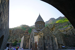 Within Geghard monastery yard, Armenia