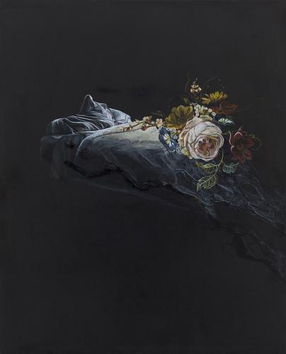 Emma Bennett 'Ebb Tide', 2016 Oil on oak panel 25x20cm