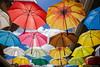 Umbrellas (fozzie88) Tags: mauritius reisen portlouis umbrellas schirme farben colors beautiful