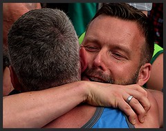 Fiert Montral 2016 (Gay Pride) Retrouvailles (Trebor M.) Tags: accolade hugs amiti hommes men gay gaypride fiertmontral