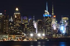 Night Towers (Lojones13) Tags: city architecture skyline night outdoor waterfront water newyork nikond7000 smashing