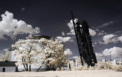 Train to the sky Wrocaw infrared (Kamil Pluta photography) Tags: rail sky pocig do nieba wrocaw podczrwie bunkier plac strzegomski infrared train lokomotywa poland polska dolny lsk dolnolskie lower silesia locomotive