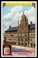 Liebig Tradecard S1170 - Town Hall, Antwerp (cigcardpix) Tags: tradecards advertising ephemera vintage liebig architecture