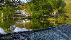 River Brathay at Stile Cumbria (TERRY KEARNEY) Tags: riverbrathaycumbria weir river trees reflections water watercourse waterway elterwater stile autumn canoneos1dmarkiv daylight day explore europe england flickr flowers kearney landscape nature oneterry outdoor sunshine terrykearney wildlife weather autumn2016 2016