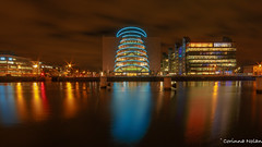 Convention Centre Different Style (corinna.nolan) Tags: dublin convention center blue night liffey long exposure canon