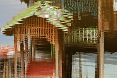 Distorted reflection (I.M.W.) Tags: inlelake lake reflection water upsidedown waves ripples myanmar burma