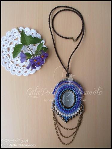 """Colar comprido """"Blue Mandala"""" (colecção Primavera-Verão 2015)"""