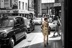 Tattoo You (Iamamanc) Tags: london sunglasses vintage ginger dress legs sony tattoos alpha satchel sunnyday tatts londoncab cheshirestreet shortdress damascubite adrianfortune sony1650mmf28 adrianfortuneskycom a77m2 bashirehouse