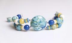 """Bracelet """"Afrodita"""" (Author's jewelry) Tags: polymerclay bracelet bracelets designerjewelry polymerclaybracelet polymerclayjewelry authorsjewelry gfart"""