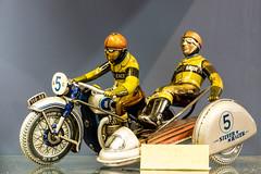 Silver Racer (fotomanni.de) Tags: bayern deutschland franken spielzeug nrnberg motorrad gespann mittelfranken museumindustriekultur
