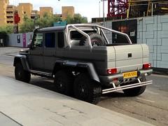 RT55 SSS Brabus Mercedes in Southwark, 29-08-15 (Tin Wis Vin) Tags: london 6x6 car mercedes southwark brabus 6wheeler