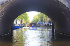 Amsterdam Canal (U A Satish) Tags: bridge trees water netherlands boat outdoor amsterdamcanal uasatish httpuasatishcom
