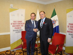 Yukon Premier Darrell Pasloski, Vice-Chair of COF, meets with with México Governor Eruviel Ávila, CONAGO Chair / Premier ministre du Yukon, Darrell Pasloski, vice-président du CDF, rencontre le gouverneur de México, Eruviel Ávila, président de la CONAGO