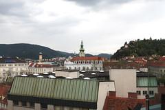 Graz rooftops (Blackphant) Tags: travel nature weather austria rooftops cloudy parks graz stadtpark citypark discover
