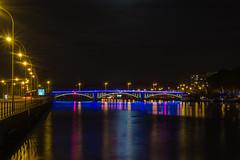 Pont Atlas la Nuit I (fuechsel.michel) Tags: longexposure bridge river mas raw shooting brcke fluss lige fatw belgien lttich langzeit pontatlas fatwlttich atlasbrcke
