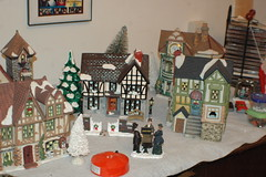 DSC_2657  This Years Christmas Village (Sam T (samm4mrox)) Tags: christmas red holiday green festive gold maine newengland merrychristmas