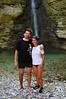 Gli amici Fauso e Maura alla Cascata di Cusano - Majella - Abruzzo - Italy