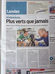 Article Sud Ouest Landes