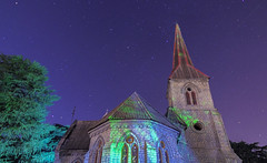 Saint luke church Abbottabad (Hasankazmi) Tags: church saint night star luke abbottabad