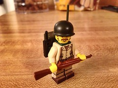Pvt. Tim Buckler, 29th I.D Radioman (ranger3181) Tags: world 2 two man brick infantry america radio army us war lego painted united rifle helmet collection equipment american figure ww2 second soldiers guns marines uniforms states minifig custom airborne weapons paratrooper pvt minfig brickarms brickforge brickmania minifigcat roaglaans minifigsrus