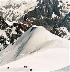 Winter walking (Katarina 2353) Tags: mountain snow france film landscape nikon chamonix katarinastefanovic katarina2353