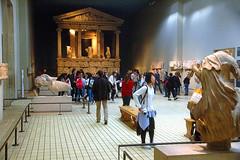British Museum:  Greece (EmperorNorton47) Tags: autumn england sculpture london fall archaeology museum digital temple photo unitedkingdom interior statues tourists greece britishmuseum