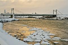 Ölfusárbrú (skolavellir12) Tags: bridge snow ice water river island iceland selfoss suðurland ölfusá ölfusárbrú