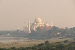 Taj Mahal from the Agra Fort, India