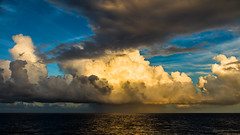 Big clouds in the evening sun. (Juergen Huettel Photography) Tags: sun clouds storm rain raining sea caribbian flickraward karibik wether wetter sturm regen sunset wind ocean ozean water waves blue hüttel jhuettel