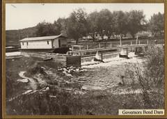 Fox River, Governor's Bend Dam, 1913