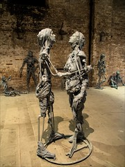 P9252752 Italy Venice Biennale Art Exhibition (Dave Curtis) Tags: 2013 em5 europe italy omd olympus venice biennale art exhibition sculptures skeletons bandages