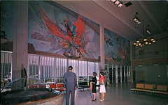 Sky Harbor Airport, Phoenix, Arizona (SwellMap) Tags: postcard vintage retro pc chrome 50s 60s sixties fifties roadside midcentury populuxe atomicage nostalgia americana advertising coldwar suburbia consumer babyboomer kitsch spaceage design style googie architecture airplane jet airliner airport