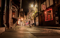 The Shambles At Night (Rob Pitt) Tags: the shambles at night york england photography street cobbles old canon 750d longexposure window timberframed buildings