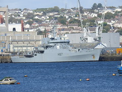 MS Echo (mukaloon) Tags: hms echo survey ship royal navy devonport h87 water dock harbour
