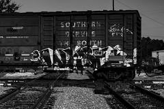 (o texano) Tags: houston texas graffiti trains freights bench benching wyse dts defthreats d30 adikts a2m