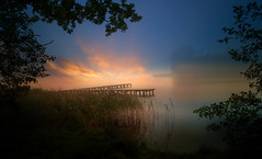 Sky (augustynbatko) Tags: sky lake nature water view landscape clouds cloud outdoor pier