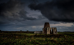 The Abbey of St Benets (jammo s) Tags: stbenetsabbey norfolkbroads stark moody norfolk abbey drainagemill clouds canonef1740mmf4lusm canoneos6d