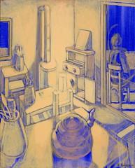 Εσωτερικό VI (2010) - ακρυλικά (40Χ50)