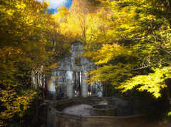 The Carbide Willson Mill ruins in Gatineau Park, Quebec (John Ronson Photography) Tags: carbidewillsonmill mill millruins ruins fall autumn gatineau gatineaupark quebec topazimpression