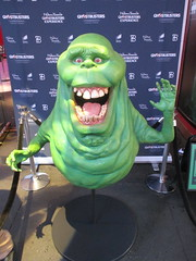 42nd Street Wax Slimer 2016 NYC 6172 (Brechtbug) Tags: 42nd street wax slimer 2016 nyc 10062016 new york city green ghost from ghostbusters film museum midtown manhattan sidewalk spooks spook movie creature halloween decoration decor spooky madame tussauds waxworks waxwork museums art sculpture statue special effect effects