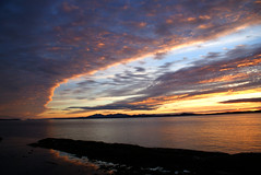 Day 170a 2016 Arc (Searigg) Tags: cloud sunset scotland riverclyde outdoor sea